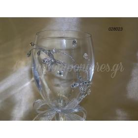 Ποτηρι Γαμου Στολισμενο - ΚΩΔ: 028023-Pl