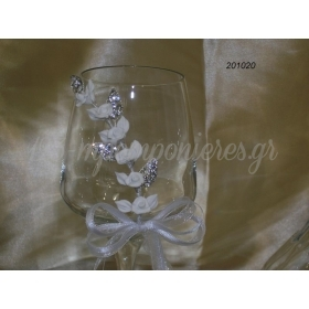 Ποτηρι Γαμου Στολισμενο - ΚΩΔ: 201020-Pl
