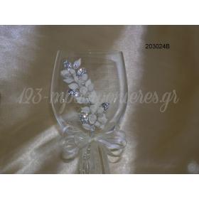 Ποτηρι Γαμου Στολισμενο - ΚΩΔ: 203024B-Pl
