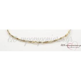 Στεφανα Γαμου Απο Επιπλατινωμενο Μεταλλο Ασημι - Χρυσο - Σετ - ΚΩΔ:N185-Sl