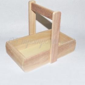 ΞΥΛΙΝΟ ΚΑΛΑΘΙ ΜΕ ΧΕΡΙ 21.5x12cm - ΚΩΔ:519421