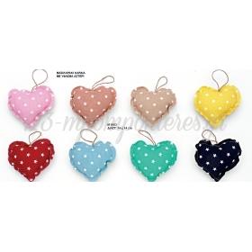 Μαξιλαρακι Καρδια Με Υφασμα Αστερι 14Χ14 Εκατ. ΚΩΔ:M9663-Ad