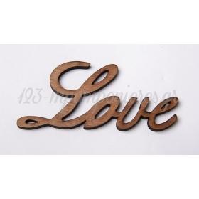 ΞΥΛΙΝΟ ΔΙΑΚΟΣΜΗΤΙΚΟ LOVE 29Χ15 ΕΚΑΤ. - ΚΩΔ:6004-MC