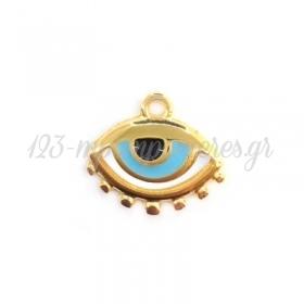 Μεταλλικό Ζάμακ Χυτό Μοτίφ Μάτι με Σμάλτο 18x13mm - ΚΩΔ:78433204-NG