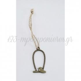 Μεταλλικο Κρεμαστο Διακοσμητικο Κλουβακι Με Σχοινι - ΚΩΔ:Met24-Rn