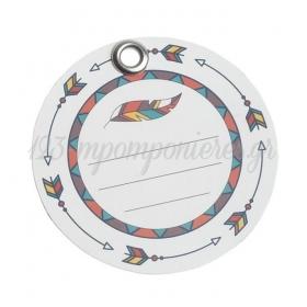 Χάρτινη ετικέτα φτερό στρόγγυλη - ΚΩΔ:81540-PR