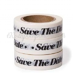 WASHI TAPE SAVE THE DATE -15MMΧ10M - ΚΩΔ:102525-GN