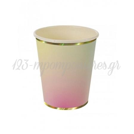 Χάρτινο ποτήρι Ombre 8τμχ - ΚΩΔ:133048-JP