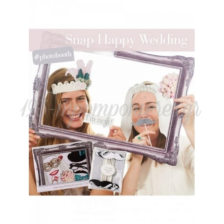Mr & Mrs Photo Booth Party Props - ΚΩΔ:S-AIR-SNAPPY-JP