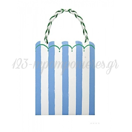 Τσάντα δώρου ριγέ σιέλ Toot Sweet - ΚΩΔ:114130-JP