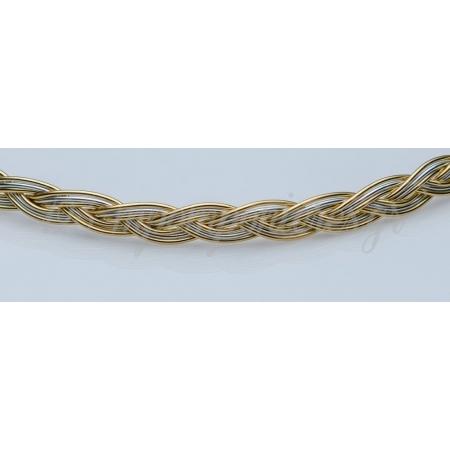 Στεφανα Γαμου Οικονομικα Πλεξουδα Διχρωμο Ασημι - Χρυσο - Σετ - ΚΩΔ:N463-Sl
