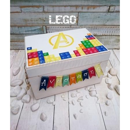 Μπαουλο Βαπτισης Ξυλινο Lego - ΚΩΔ: Lego-Bm