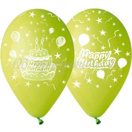 Τυπωμενα Μπαλονια Latex Λαχανι Με Τουρτα Και Αστερια 13΄΄ (33Cm) – ΚΩΔ.:13512331B-Bb