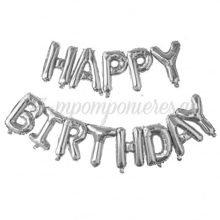 ΜΠΑΛΟΝΙ FOIL ΓΕΝΕΘΛΙΩΝ ΑΣΗΜΙ «Happy Birthday» 40cm – ΚΩΔ.:207118-BB