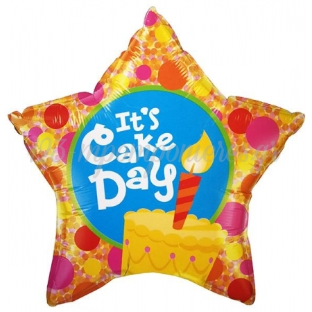ΜΠΑΛΟΝΙ FOIL ΓΕΝΕΘΛΙΩΝ SUPER SHAPE «It's cake day» ΑΣΤΕΡΙ 45cm – ΚΩΔ.:60862-BB