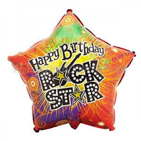 ΜΠΑΛΟΝΙ FOIL ΓΕΝΕΘΛΙΩΝ SUPER SHAPE «HAPPY BDAY ROCK STAR» ΑΣΤΕΡΙ 45cm – ΚΩΔ.:85607-BB