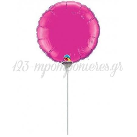 """Μπαλονι Foil 7""""(18Cm) Mini Shape Στρογγυλο Φουξια – ΚΩΔ.:206213A-Bb"""