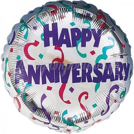 ΜΠΑΛΟΝΙ FOIL 50x43cm «Happy Anniversary» ΜΕ ΚΟΝΦΕΤΤΙ - ΚΩΔ.:511883-BB