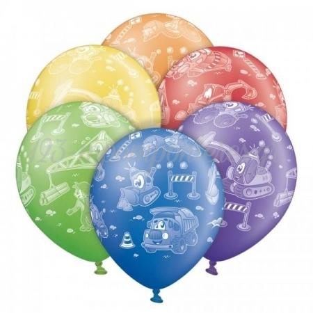 """Τυπωμενα Μπαλονια Latex Φορτηγα Σε 6 Διαφορετικα Χρωματα 12"""" (30Cm) – ΚΩΔ.:1300106-Bb"""