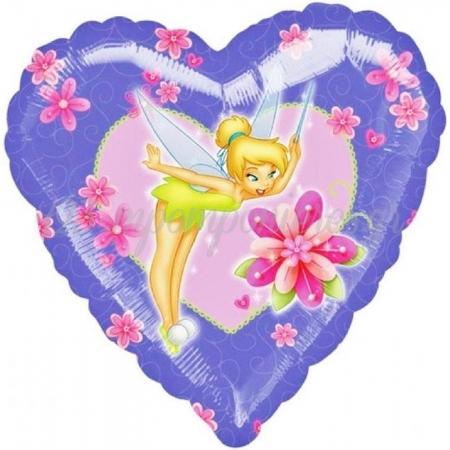 ΜΠΑΛΟΝΙ FOIL 45cm ΚΑΡΔΙΑ TINKERBELL «I Love You» ΜΩΒ - ΚΩΔ.:510906-BB