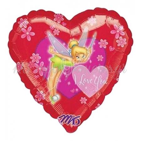ΜΠΑΛΟΝΙ FOIL 45cm ΚΑΡΔΙΑ TINKERBELL «I Love You»- ΚΩΔ.:513346-BB