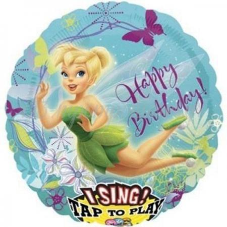 ΜΟΥΣΙΚΟ ΜΠΑΛΟΝΙ FOIL 71cm TINKERBELL «Happy Birthday» - ΚΩΔ.:523490-BB