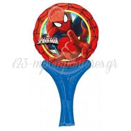 ΜΠΑΛΟΝΙ FOIL 15x30cm MINI SHAPE SPIDERMAN INFLATE-A-FUN - ΚΩΔ.:527027-BB