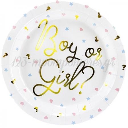 ΠΙΑΤΑΚΙΑ ΧΑΡΤΙΝΑ 'BOY OR GIRL' - ΚΩΔ:TPP44-BB