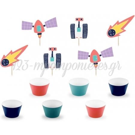 Σετ Για Cupcake Διαστημα - ΚΩΔ:Zfm2-Bb