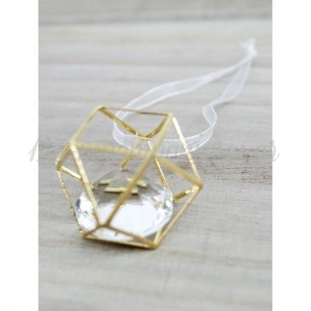 Διαμαντι Σε Χρυσο Μεταλλικο Γεωμετρικο Σχημα - ΚΩΔ:D1-Rn