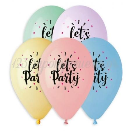 """Τυπωμενα Μπαλονια Latex Lets Party Σε Παστελ Αποχρωσεις 13"""" (33Cm) – ΚΩΔ.:13613306-Bb"""