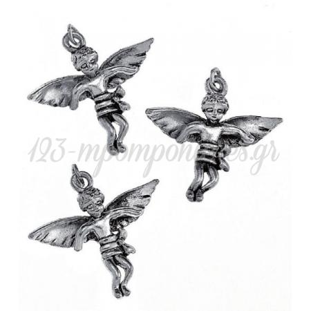 Μεταλλικο Διακοσμητικο Αγγελακι 2.8Cm - ΚΩΔ:M3466-Ad