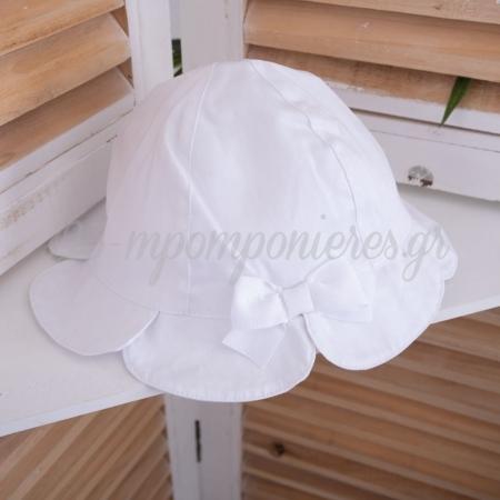 Καπελο Mayoral Για Κοριτσακια Με Φιογκο - Λευκο - 18 Μηνων - ΚΩΔ:09143-May
