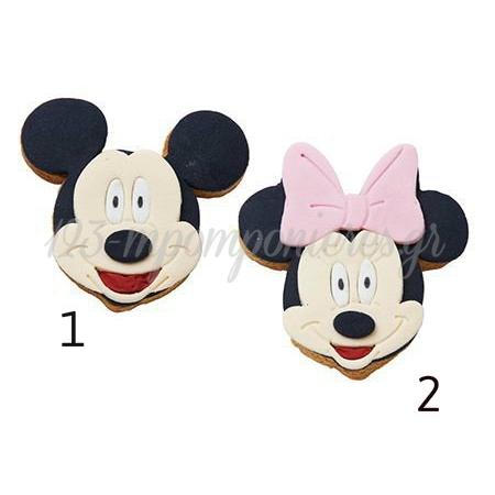 Μπισκοτα Βανιλιας Με Ζαχαροπαστα Και Θεματικη Διακοσμηση - Mickey - Minnie Mouse - ΚΩΔ:1615-Far
