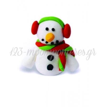 Διακοσμητικα Ζαχαρωτα Απο Ζαχαροπαστα -Χιονανθρωπος 3D Τρισδιαστατος - Συσκευασια 25 Τμχ - 5 X 4 Εκ. - ΚΩΔ:5002-Far