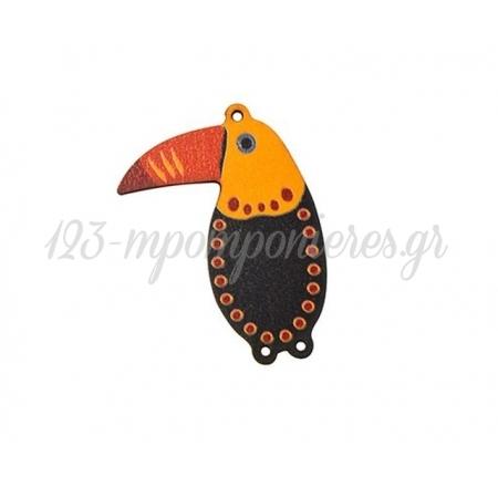 Ξύλινο Πουλί Τουκάν 42x55mm - ΚΩΔ:76460269.211-NG