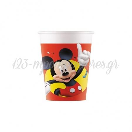 Χαρτινα Ποτηρια 200Ml Mickey Mouse - ΚΩΔ:90878-Bb