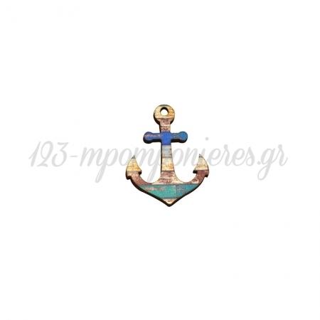 Ξύλινη Άγκυρα 45x60mm - ΚΩΔ:76460316.401-NG