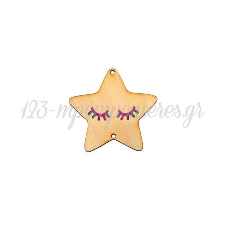 Ξύλινο Μοτίφ Αστέρι Μονόκερος 68mm - ΚΩΔ:76460406.001-NG