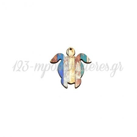 Ξύλινη Χελώνα 55x60mm - ΚΩΔ:76460315.401-NG