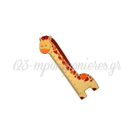 Ξύλινος Χάρακας Καμηλοπάρδαλη 43x149mm - ΚΩΔ:76460489.201-NG