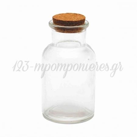 Γυαλινο Μπουκαλι Με Φελο 150Ml 10X5,5Cm - ΚΩΔ:29002-Mc