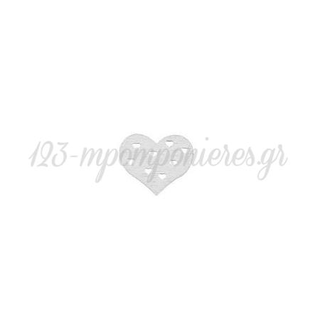 ΞΥΛΙΝΕΣ ΔΙΑΚΟΣΜΗΤΙΚΕΣ ΚΑΡΔΙΕΣ - ΛΕΥΚΟ - 3Χ2.3CM - ΚΩΔ:M2619-AD