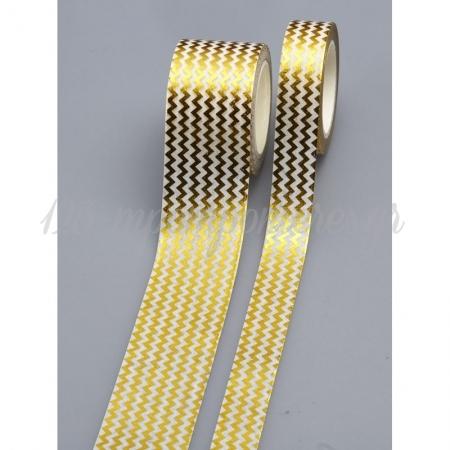 Αυτοκολλητη Κορδελα Σεβρον 3Cm X 10M - ΚΩΔ:Wt7-2-Nu
