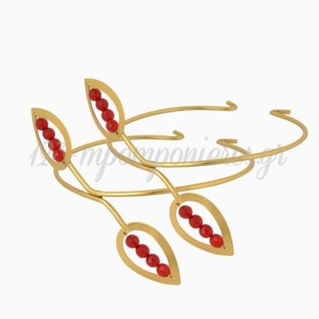 Επαργυρα Χρυσα Βραχιολια Κεριου Με Σχημα Δακρυα Για Στηριγμα Στολισμου - ΚΩΔ:48-Xrysa-Dakrya-Vx