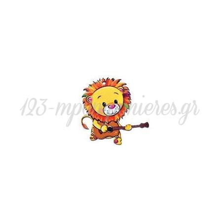 Ξυλινο Λιονταρι Με Κιθαρα 4.7X5Cm - ΚΩΔ:M3873-Ad