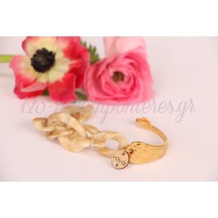 Βραχιολακι Μαρτυρικο Bracelet Μαμα - Νονα Με Κοκκαλινη Αλυσιδα - ΚΩΔ:216-Celfie