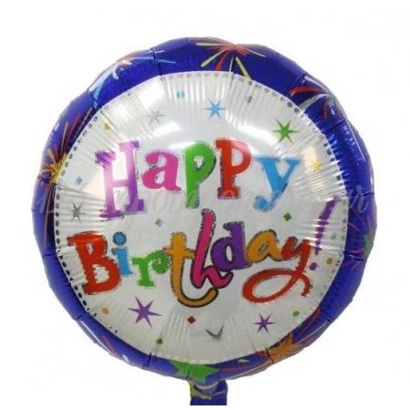 ΜΠΑΛΟΝΙ FOIL 18''(45cm) HAPPY BIRTHDAY FIREWORKS - ΚΩΔ:206367-BB
