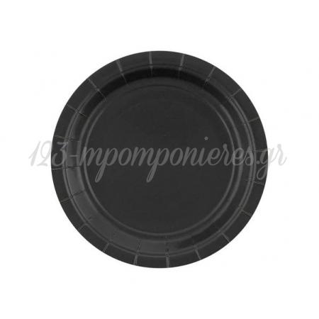 Χαρτινα Πιατα Γλυκου Μαυρα 18Cm - ΚΩΔ:Gj-T9Cr-Bb