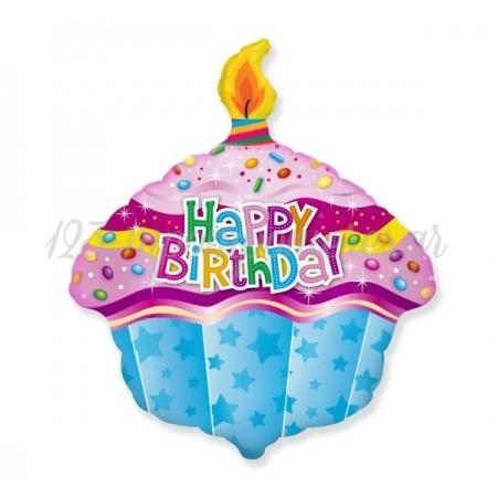 """ΜΠΑΛΟΝΙ FOIL 24""""(61cm) MUFFINE HAPPY BIRTHDAY - ΚΩΔ:901736-BB"""